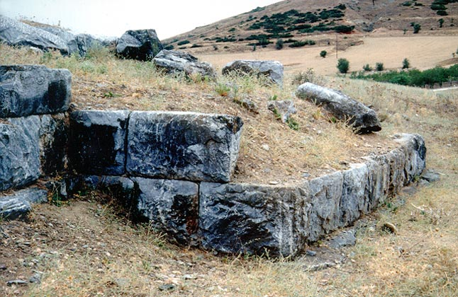 Pherai fortification - View of the fortification of the 4th century BC, acropolis of Pherai