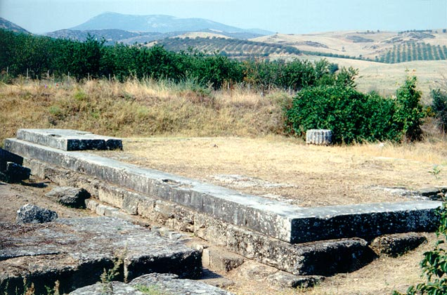 Temple of Thaulios Zeus - The krepis of the temple of Thaulios Zeus by � Hellenic Ministry of Culture and Tourism � 13th Ephorate of Prehistoric and Classical Antiquities